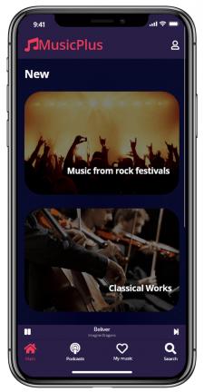 Дизайн приложения музыкального сервиса