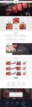 Дизайн лендинга по продаже мяса