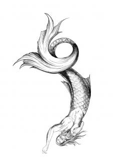 Эскиз татуировки Русала