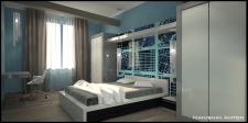 Квартира в стиле Loft (спальня)