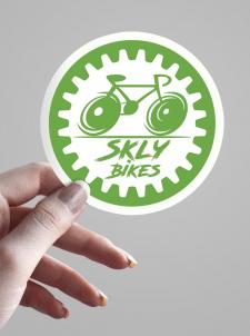 Логотип для торговли велосипедами