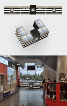 3D модель торгового островка