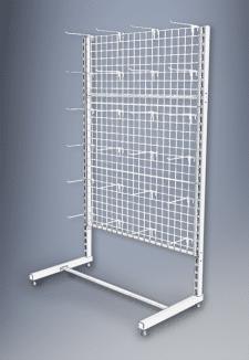 Стеллаж пристенный с сетчатыми панельными стенками
