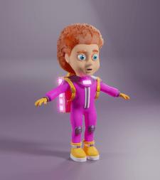 Маленькая девочка-космонавт 3D