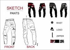 Эскиз брюк