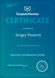Ветеран OpenCart