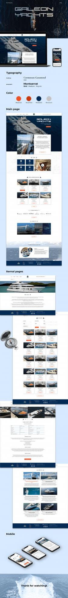 Сайт по продаже и аренде, катеров и яхт