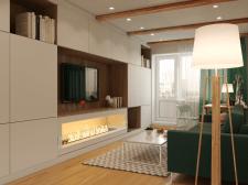 Дизайн интерьера зала / 3d визуализация