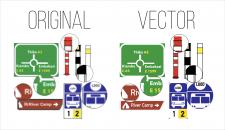 Отрисовка в вектор дорожных знаков