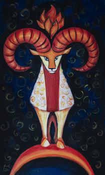 Овен, из серии знаки зодиака