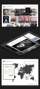 Дизайн сайта-портфолио для художника-3d-шника