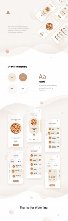 Дизайн мобильного приложения по доставка пиццы