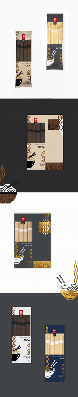 Дизайн упаковки для вермишели SOBA и UDON