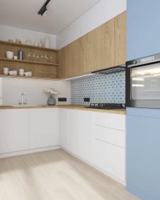 Дизайн проект кухни ,3д модел-ние и виз-ция.