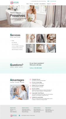 Дизайн сайту для хімчистки