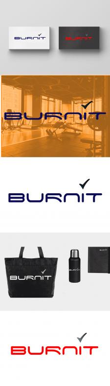 Логотип для Burnit — акцент на название