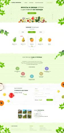 Дизайн лендинга фруктовой компании