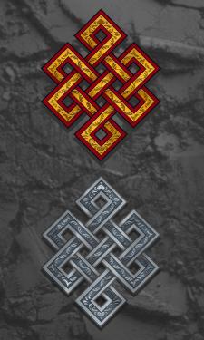 Кельтские узоры. Бесконечный узел.