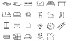Сет иконок для мебельного магазина