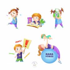 персонажі для дитячого клубу