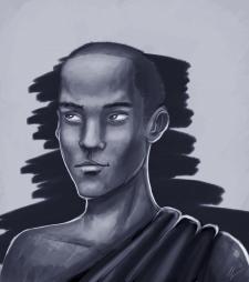 Рисунок монаха