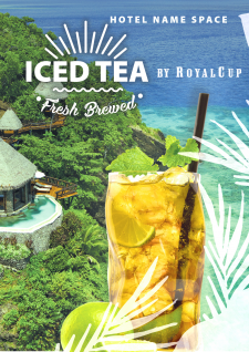 Iced Tea. Флаер А4