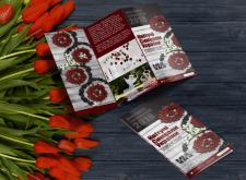 Дизайн буклета для выставки цветов