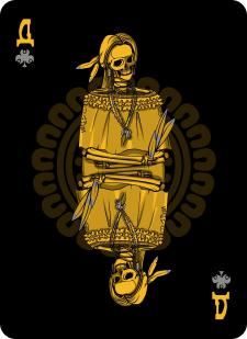 Spielkarten Indians- Skelette4