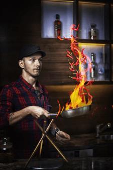 Бизнес портрет персонала ресторана