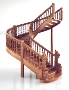3Д модель лестницы