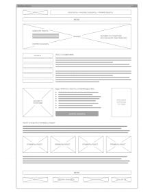 Схема структуры дизайна сайта
