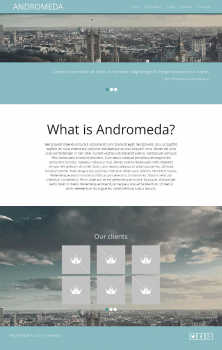 Andromeda pure css3 site template