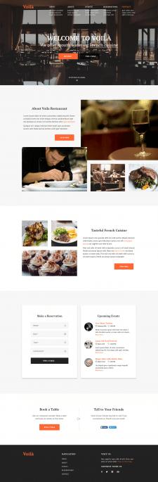 Верстка сайта для ресторана