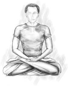иллюстрация на тему медитации