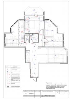 План осветительного оборудования квартира 100м2