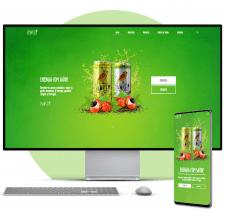 HTML CSS JQuery Рекламный одностраничник