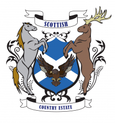 Scottish shield for country estate agency