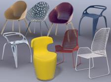 Моделин современных стульев