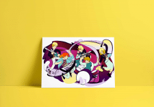 Иллюстрация музыкальная группа