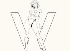 Девушка в векторе (комикс-стиль)