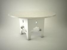 3Д столешница белая в восточном стиле