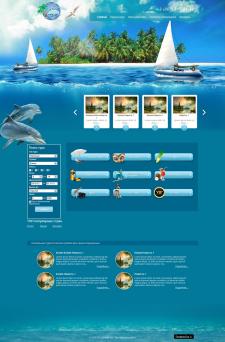 "Сайт визитка для Тур.агентства ""Дельфи тур"""
