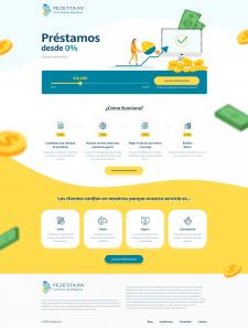 Дизайн и верстка испанского сайта займов