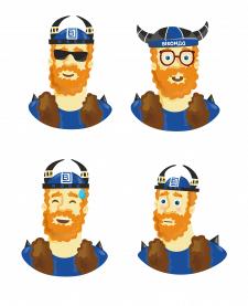Стикеры для Telegram «Виконд» - 2 серия эмоций