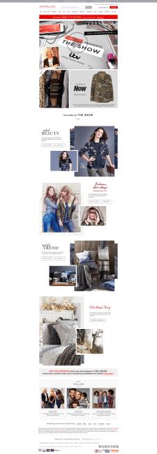 Интернет-магазин одежды для компании Matalan
