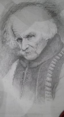 Курсовая в университете. Портрет старого гуцула