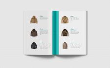 """Верстка каталога одежды в стиле """"милитари"""""""