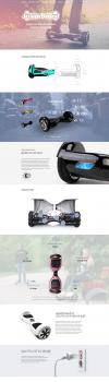 Веб-дизайна сайта продажи гиробордов Steam Board