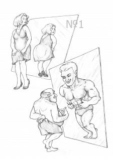 Он и Она видят в зеркале