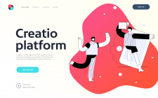 Landing page for CRM sistem